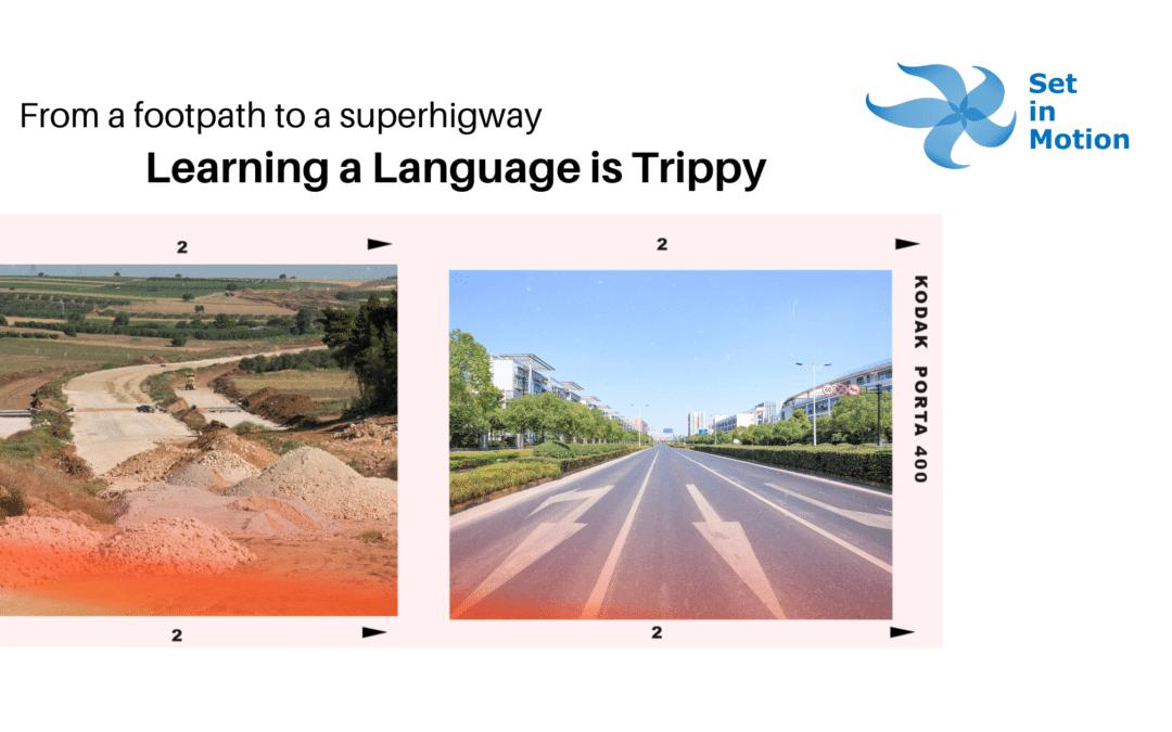 Learning a language is trippy. Kinda like social media.
